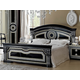 ESF Furniture Aida Queen Panel Bed in Black w/ Silver