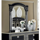 ESF Furniture Aida Mirror in Black w/ Silver