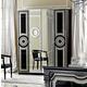 ESF Furniture Aida 4 Door Wardrobe in Black w/ Silver
