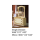 ESF Furniture Barocco Single Dresser in Ivory