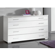 ESF Furniture Momo Single Dresser in White