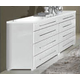 ESF Furniture Momo Double Dresser in White