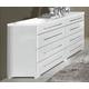 ESF Furniture Momo Double Dresser in White