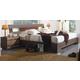 ESF Furniture 112 Queen Platform Bed in Dark Brown