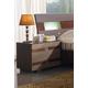 ESF Furniture 112 2 Drawer Nightstand in Dark Brown