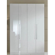 ESF Furniture Momo 4-Door Wardrobe in White