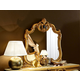 ESF Furniture Barocco Mirror in Ivory w/ Gold