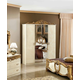 ESF Furniture Barocco 4-Door Wardrobe in Ivory w/ Gold