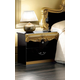 ESF Furniture Barocco Nightstand in Black w/ Gold