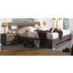 ESF Furniture 112 4-Piece Platform with Storage Bedroom Set in Dark Brown