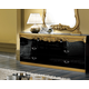 ESF Furniture Barocco Double Dresser in Black w/ Gold