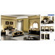 ESF Furniture Barocco Vanity Dresser in Black w/ Gold