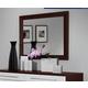 ESF Furniture Penelope & Luxury Mirror in Wenge