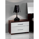 ESF Furniture Luxury Nightstand in White and Brown