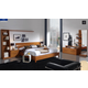 ESF Furniture 114 4-Piece Platform with Storage Bedroom Set in
