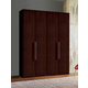 ESF Furniture Luxury 4-Door Wardrobe in Brown