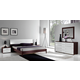 ESF Furniture Luxury Platform Bedroom Set in White and Brown