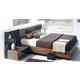 ESF Furniture Jana Queen Platform with Storage Bed in Brown