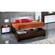ESF Furniture Luxury Platform Storage Bedroom Set in White and Brown