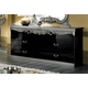 ESF Furniture Barocco Double Dresser in Black w/ Silver