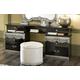 ESF Furniture Barocco Vanity Dresser in Black w/ Silver