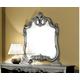 ESF Furniture Barocco Mirror in Black w/ Silver