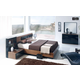 ESF Furniture Jana 4-Piece Platform Bedroom Set in Brown