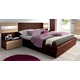 ESF Furniture Maya Queen Platform Bed in Dark Wenge