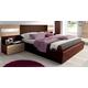 ESF Furniture Maya Queen Platform with Storage Bed in Dark Wenge