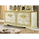 ESF Furniture Leonardo Double Dresser in Ivory
