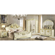 ESF Furniture Leonardo 4-Piece Panel Bedroom Set in Ivory