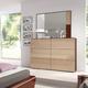 ESF Furniture Maya 6 Drawer Dresser in Dark Wenge