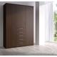 ESF Furniture Maya 3 Door Wardrobe in Dark Wenge