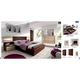 ESF Furniture Maya 4-Piece Platform Bedroom Set in Dark Wenge