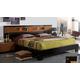 ESF Furniture Sal King Platform Bed in Black/Walnut