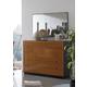 ESF Furniture Sal 5 Drawer Dresser in Black/ Walnut