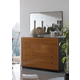 ESF Furniture Sal Mirror in Black/ Walnut