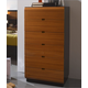 ESF Furniture Sal 6 Drawer Chest in Black/ Walnut