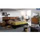 ESF Furniture Sal 4-Piece Platform with Storage Bedroom Set in Black/Walnut