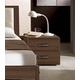 ESF Furniture Teseo Nightstand in Warm Brown