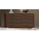 ESF Furniture Teseo Double Dresser in Warm Brown