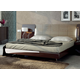 ESF Furniture Barcelona King Platform Bed in Dark Brown