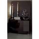 ESF Furniture Barcelona 2 Drawer Nightstand in Dark Brown