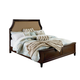 Standard Furniture Windsor Queen Upholstered Panel Bed in Bourbon Brown