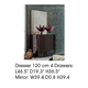 ESF Furniture Barcelona Mirror in Dark Brown