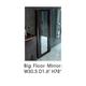 ESF Furniture Barcelona Standing Mirror in Dark Brown