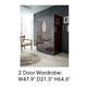 ESF Furniture Barcelona 2 Door Wardrobe in Dark Brown