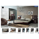 ESF Furniture Barcelona 4-Piece Platform Bedroom Set in Dark Brown