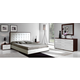 ESF Furniture Penelope & Luxury 4-Piece Platform Bedroom Set in White