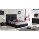 ESF Furniture 622 Penelope 4-Piece Platform Bedroom Set in Black